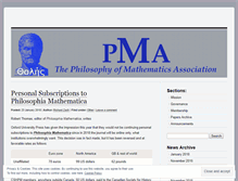 Tablet Preview of philosophyofmath.org
